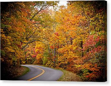 Around The Bend Canvas Print by Walt  Baker