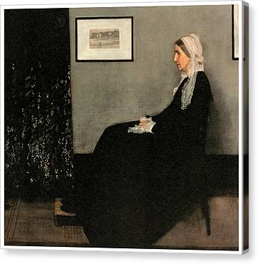Arrangement In Grey And Black No 1 Canvas Print by James Abbott McNeill Whistler