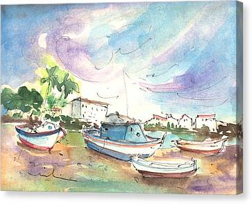 Arrecife In Lanzarote 01 Canvas Print by Miki De Goodaboom
