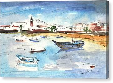 Arrecife In Lanzarote 04 Canvas Print by Miki De Goodaboom