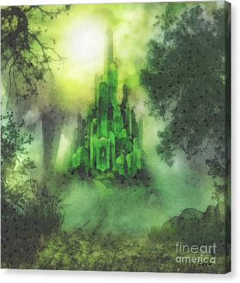 Arrival To Oz Canvas Print by Mo T