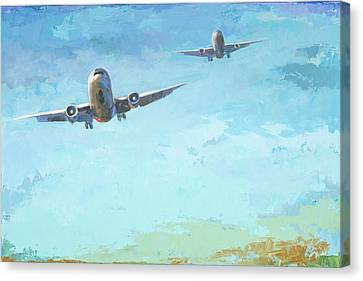 Arrivals #3 Canvas Print by David Palmer