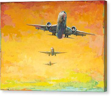 Arrivals #4 Canvas Print by David Palmer