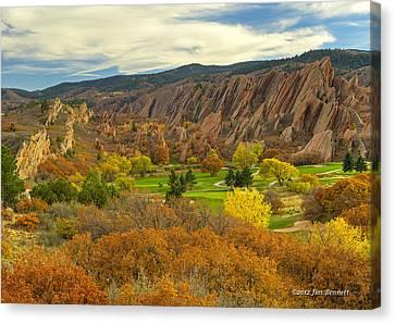 Arrowhead Autumn Color Canvas Print by Jim Bennett