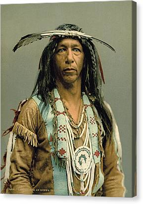 Arrowmaker, An Ojibwa Brave Canvas Print by Underwood Archives
