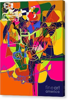 Art And Writing 2 Canvas Print by David Baruch Wolk