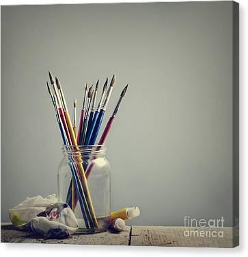 Art Brushes Canvas Print by Jelena Jovanovic
