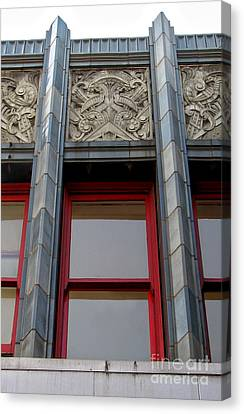 Art Deco Architectural Detail Canvas Print by Gregory Dyer