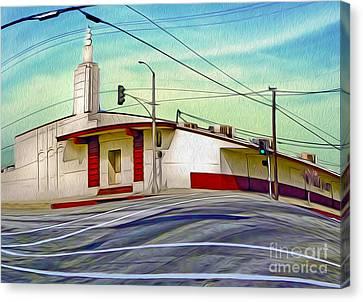 Art Deco Building - Pomona Ca Canvas Print by Gregory Dyer