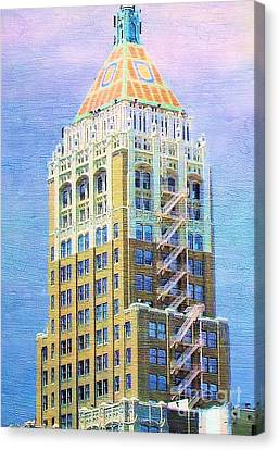 Art Deco Lives At Philtower Canvas Print by Janette Boyd