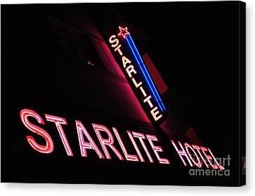 Starlite Hotel Art Deco District Miami 3 Canvas Print by Bob Christopher