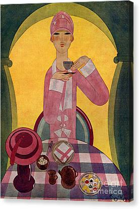Art Deco Tea Drinking 1926 1920s Spain Canvas Print by The Advertising Archives