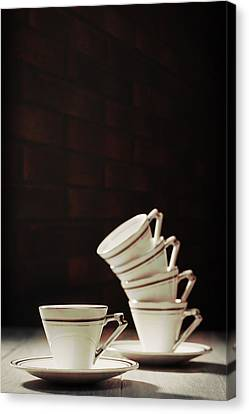 Art Deco Teacups Canvas Print by Amanda And Christopher Elwell