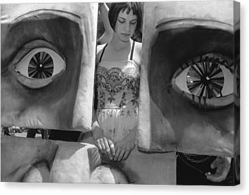 Art Festival Performer With Masks Canvas Print by Robert Ullmann