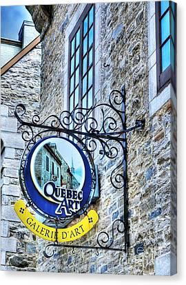 Art In Old Quebec Canvas Print by Mel Steinhauer