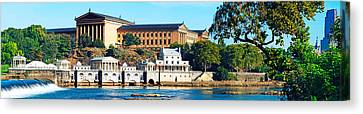 Art Museum At The Waterfront Canvas Print by Panoramic Images