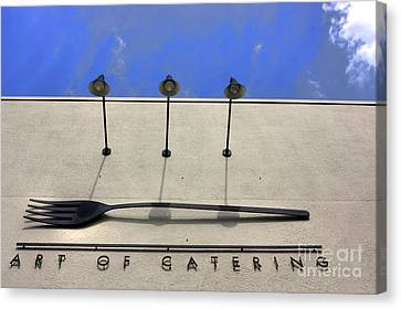 Art Of Catering Canvas Print by David Bearden