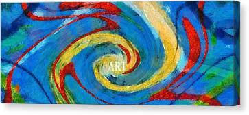 Art Swirl Canvas Print by Dan Sproul