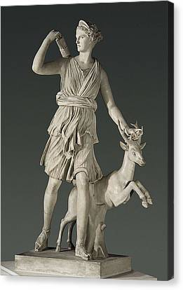 Artemis The Huntress, Known Canvas Print by Everett