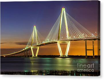 Arthur Ravenel Bridge Charleston Sc Canvas Print by Anthony Heflin