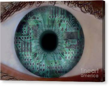 Artificial Intelligence Canvas Print by Mike Agliolo