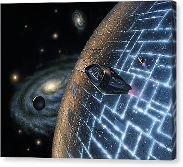 Artificial Planet, Artwork Canvas Print by Science Photo Library