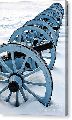 Artillery Canvas Print by Olivier Le Queinec