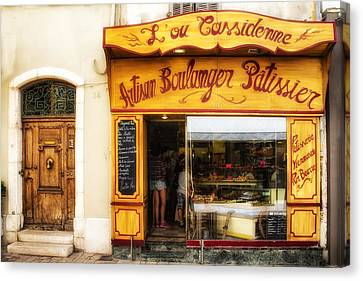 Artisan Boulanger In Cassis Canvas Print by Georgia Fowler