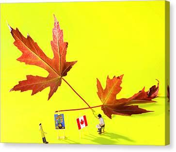 Artist De Imagination Little People Big Worlds Canvas Print by Paul Ge