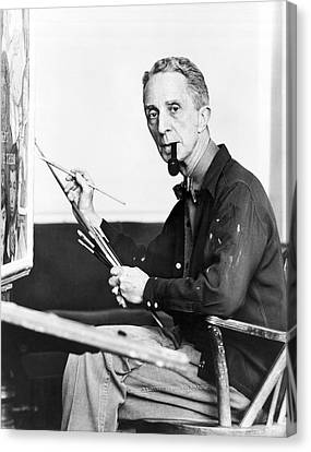 Artist Norman Rockwell Canvas Print by Underwood Archives