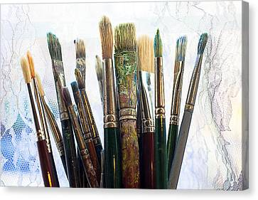 Artist Paintbrushes Canvas Print by Garry Gay