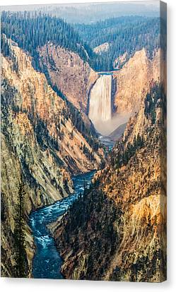 Artist Point In Yellowstone Canvas Print by Andres Leon