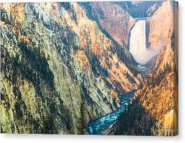 Artist Point - Yellowstone Park Horizontal Canvas Print by Andres Leon