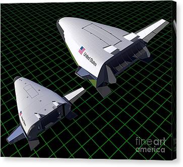 Artists Concept Showing The Relative Canvas Print by Stocktrek Images