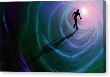 Artwork Depicting A Near-death Experience Canvas Print by Mark Garlick