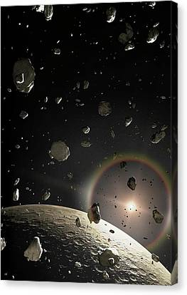 Artwork Of A Kuiper Belt Object Canvas Print by Mark Garlick