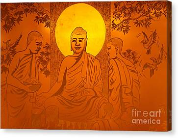 Artwork Of Buddha With Halo Canvas Print by Oleksiy Maksymenko