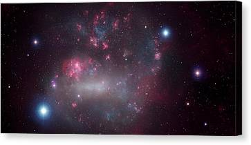 Artwork Of The Large Magellanic Cloud Canvas Print by Mark Garlick