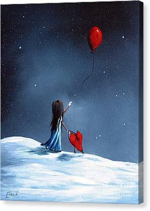 As Her Heart Breaks By Shawna Erback Canvas Print by Shawna Erback