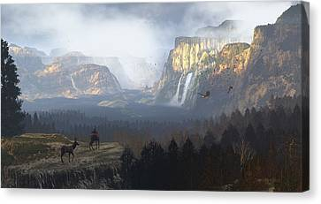 As It Was Meant To Be Canvas Print by Dieter Carlton