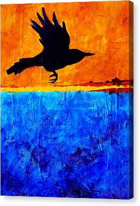 As The Crow Flies Canvas Print by Nancy Merkle