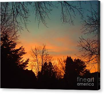 As The Sun Goes Down Canvas Print by Ann Johndro-Collins