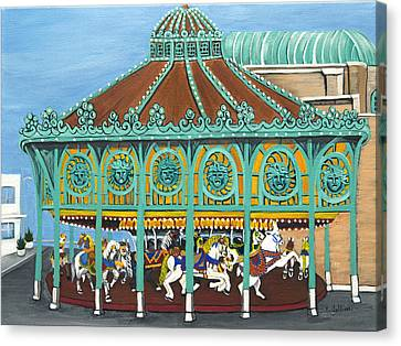 Asbury Park Carousel IIi Canvas Print by Norma Tolliver
