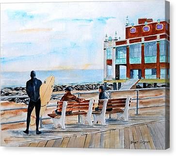 Asbury Park Surfers Canvas Print by Brian Degnon