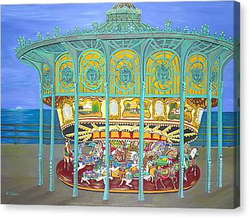 Asbury Park Yesteryear Canvas Print by Norma Tolliver