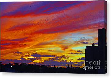 Asbury Sunset Canvas Print by Marian DeSalvo-Rodgers