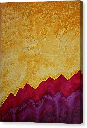 Ascension Original Painting Canvas Print by Sol Luckman