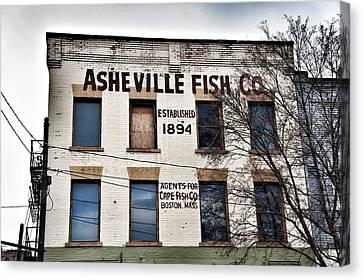 Asheville Fish Co Canvas Print by Brandon Addis