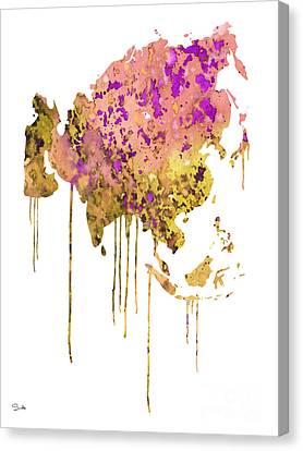 Asia Canvas Print by Luke and Slavi