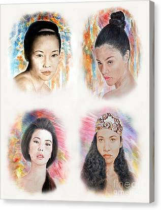 Asian Beauties  Canvas Print by Jim Fitzpatrick